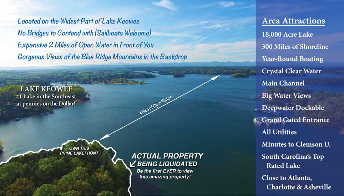 Attractions • Lakefront South Carolina Land Sale